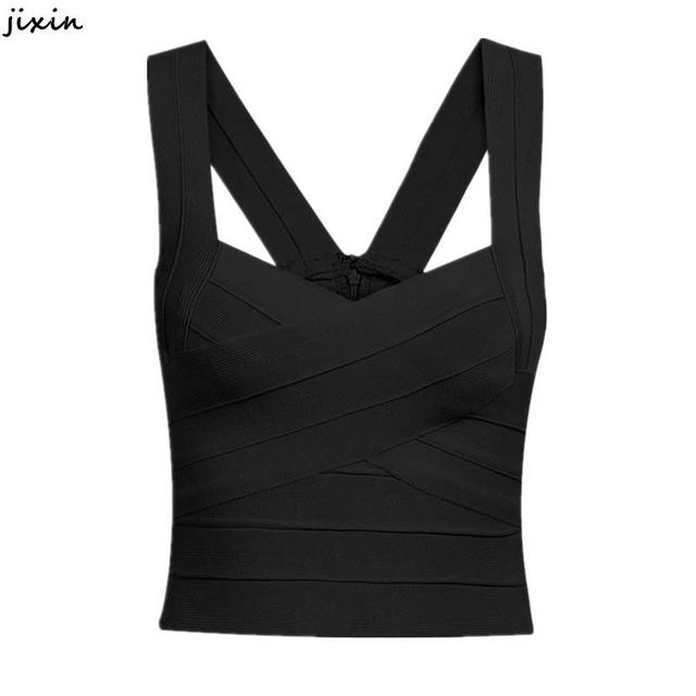 3810866fd8b Womens Tops Fashion 2015 Sexy Red Black White Bandage Crop Top Bustier Cami  Sport Bandage Crop Camisole Free Size