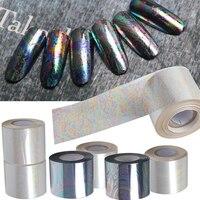 120M Length 2016 NEW Broken Glass Nail Art Transfer Foils Stickers Mirror Foil Tips Stencil Decal