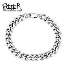 BEIER Dropshipping 316L Stainless Steel High Polish Bracelet Snail Bracelet Fashion Jewelry for man women BR-C004(China)