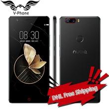 D'origine Nubia Z17 4G Mobile Téléphone 5.5 pouce Snapdragon 835 OctaCore 6 GB RAM 64/128 GB ROM Double Caméra Arrière Android 7.1 étanche