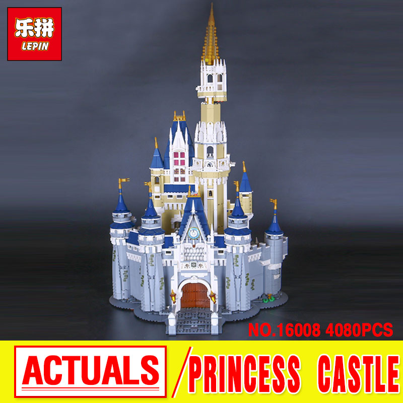 LEPIN 16008  Cinderella Princess Castle City Model Building  Block Kid Toy Compatible with 71040 lepin 16008 creator cinderella princess castle city 4080pcs model building block kid toy gift compatible 71040