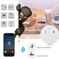 Giantree HD 1080P WIFI Camera Smoke Sensor Alarm Surveillance Camera Video Remote Control Home Security Safety