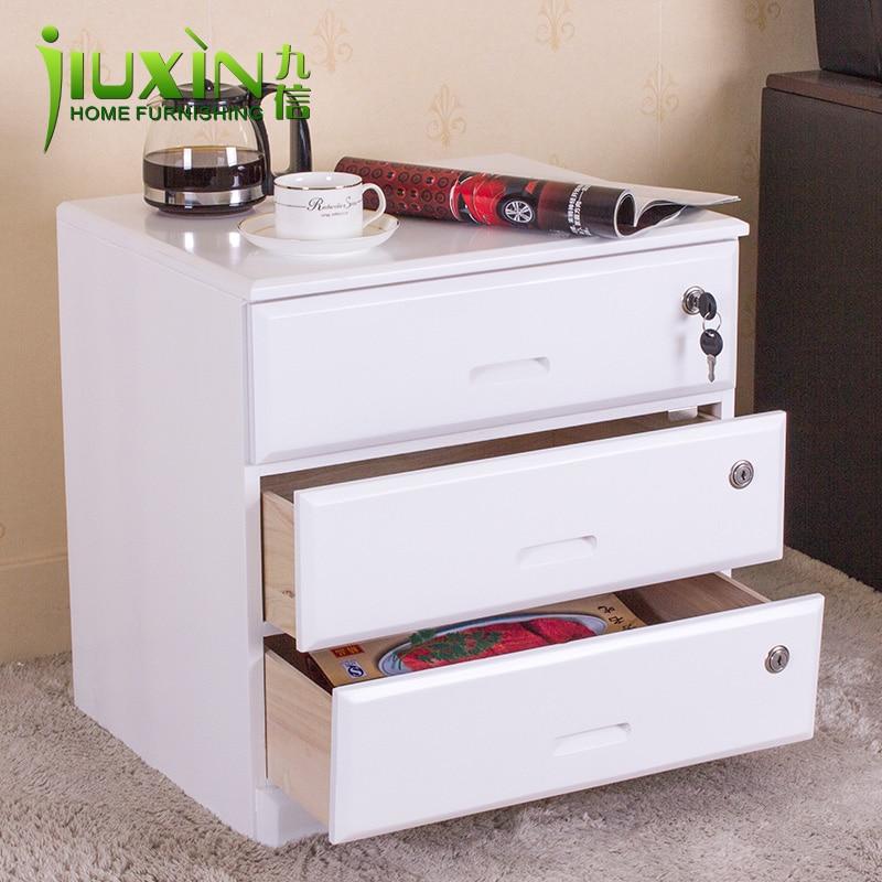 furniture bedside cabinet brief modern solid wood cabinet drawer storage cabinet locking file. Black Bedroom Furniture Sets. Home Design Ideas