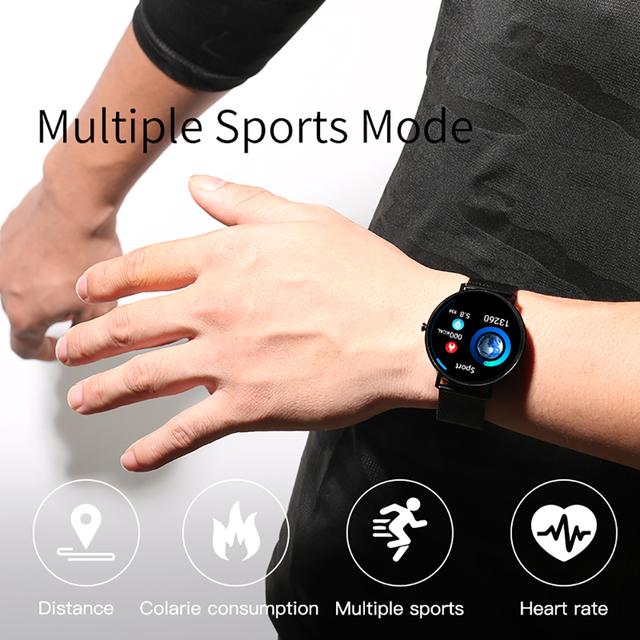 Full Screen Touch Thinner Smart Watch Waterproof Multiple Sports Mode 250Mah Fitness Bracelet