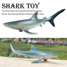 New Ocean Sea Animals Toy Blue Whale  Shark Killer Whale Turtle Action Figure Learning Educational Simulation Model oenux simulation animals action figures high quality elephant tiger bird lion panda zebra shark whale animals model toy for kids