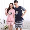 1069 Couples cotton material cartoon printing short sleeves Sleepwear