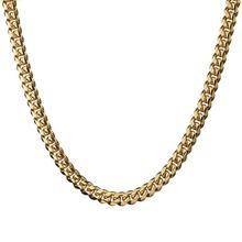 Granny Chic High Quality 10mm Gold Color Stainless Steel Miami Curb Cuban Chain Necklaces Mens Casting Dragon Lock Clasp jewelry