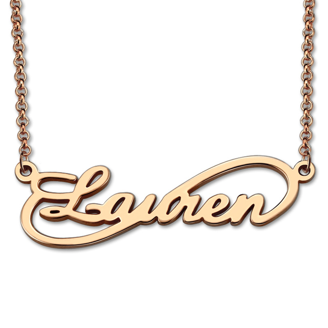 Wholesale Rose Gold Color Infinity Necklace Personalized Name