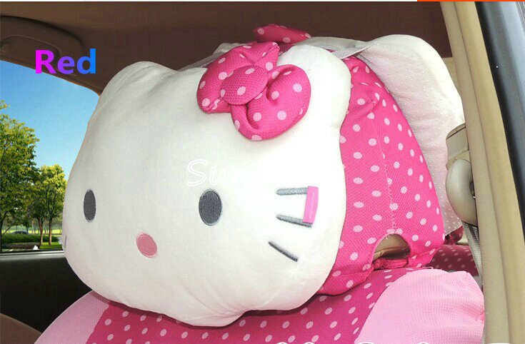 Hello kitty car styling headrest cover seat support car - Hello kitty car interior accessories ...