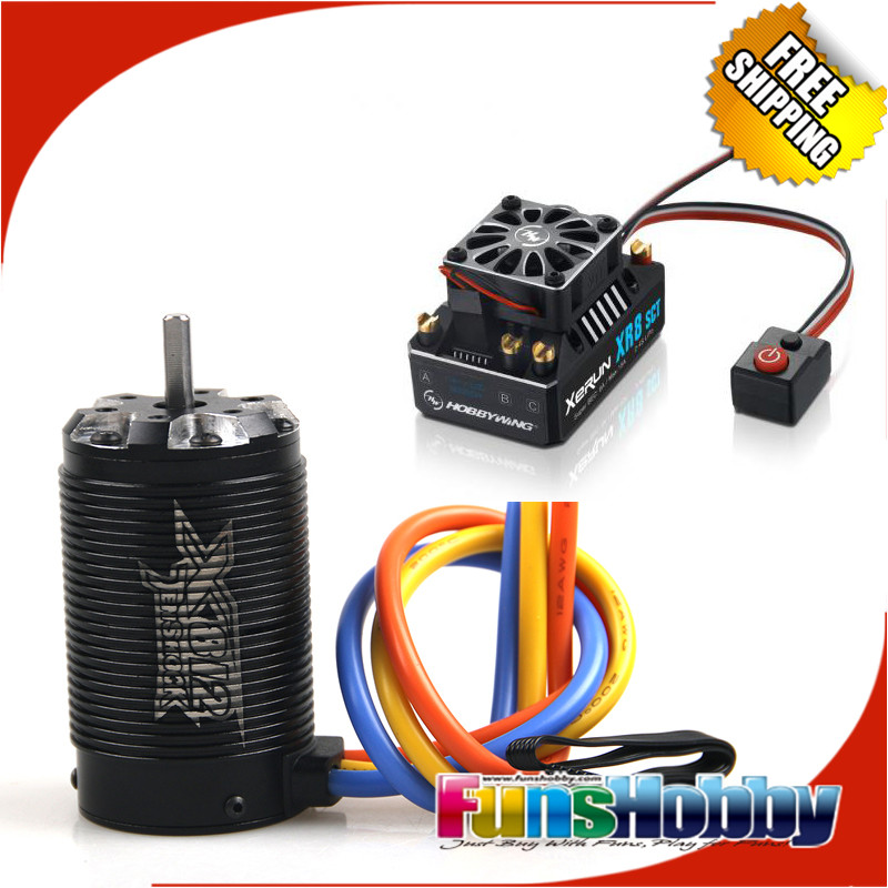 1:8 Off Road Power Combo INCL Tenshock X812 Sensor Electric Brushless Motor &XERUN XR8 SCT 140A ESC Buggy Competition RC Cars tenshock x812 1 8 rc buggy 6 pole brushless car motor for 1 8 rc brushless sensor motor cars traxxas ofna free shipping