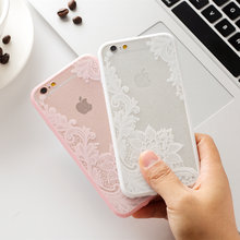 Sexy Retro Floral Phone Case For Apple iPhone 5 S5 SE Lace Flower Hard PC+TPU Cases Back Cover Capa For iPhone 6 6S(China)