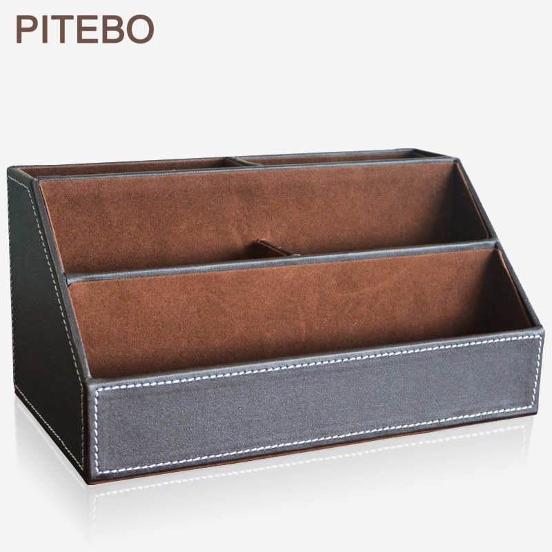PITEBO Home office leather desk stationery jewelry makeup sundries miscellaneous items holder container box organizer brownPITEBO Home office leather desk stationery jewelry makeup sundries miscellaneous items holder container box organizer brown