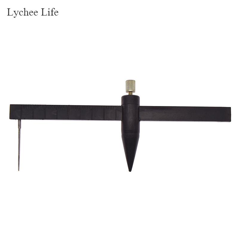 Lychee Life пластиковый Компас Круглый резак инструменты суппорт для глиняной керамики измерительная линейка режущие формы