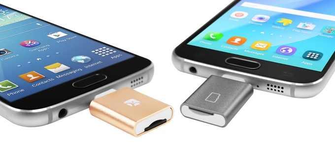 OTG картридер флеш накопителей MicroSD карт