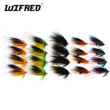 Wifreo 20 pçs sortidas cor salmão steelhead tubo de pesca voar combinação mar baixo teasers azul laranja preto cor verde