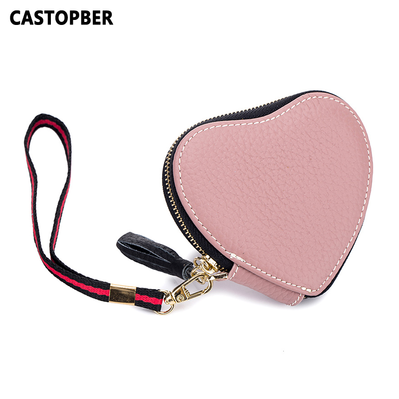 New Small Mini Coin Purse Cute Kids Cow Genuine Leather Fashion Designer Women Clutch Cartoon Students Changes Bag High Quality