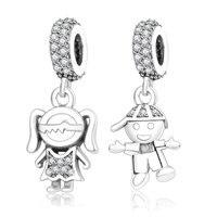 Fits Original Pandora Charms Bracelet 925 Sterling Silver Boy Girl Charm Bead Pendant DIY Jewelry Findings