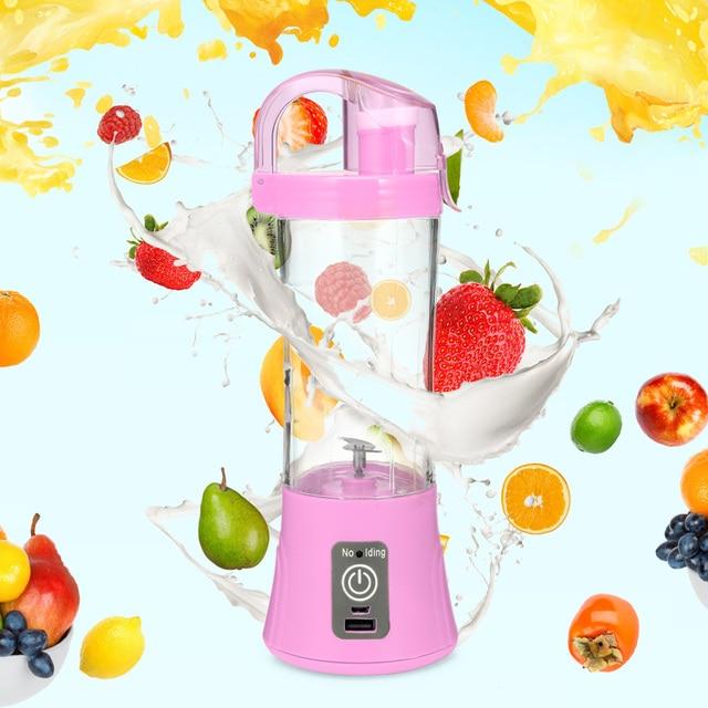 380 ml Copo Liquidificador Espremedor Portátil USB Recarregável Elétrica Automática Fabricante de Suco de Frutas Cítricas Laranja Copo Garrafa Misturador