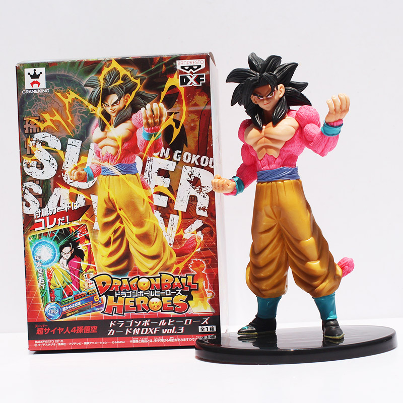 Buy 18cm Dragon Ball Heroes DXF Vol.3 Super Saiyan 4 Son Goku PVC Action Figure Collectible Toy model for only 12.81 USD