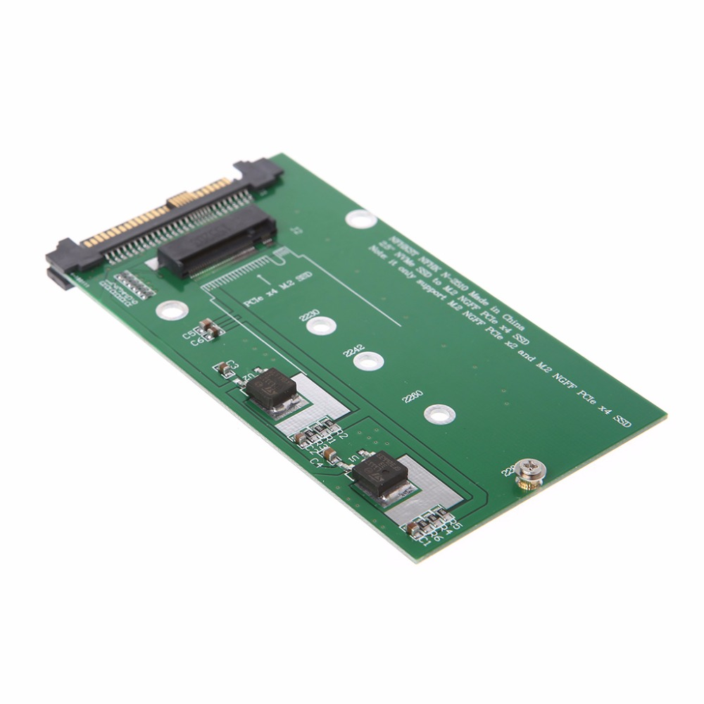 1Pc Green SA-211 SFF-8639 NVME U.2 to NGFF M.2 M Key SSD Converter Adapter Card Module New u 2 sff 8639 to m 2 pci e i f nvme ssd adapter u 2 to ngff converter with cable