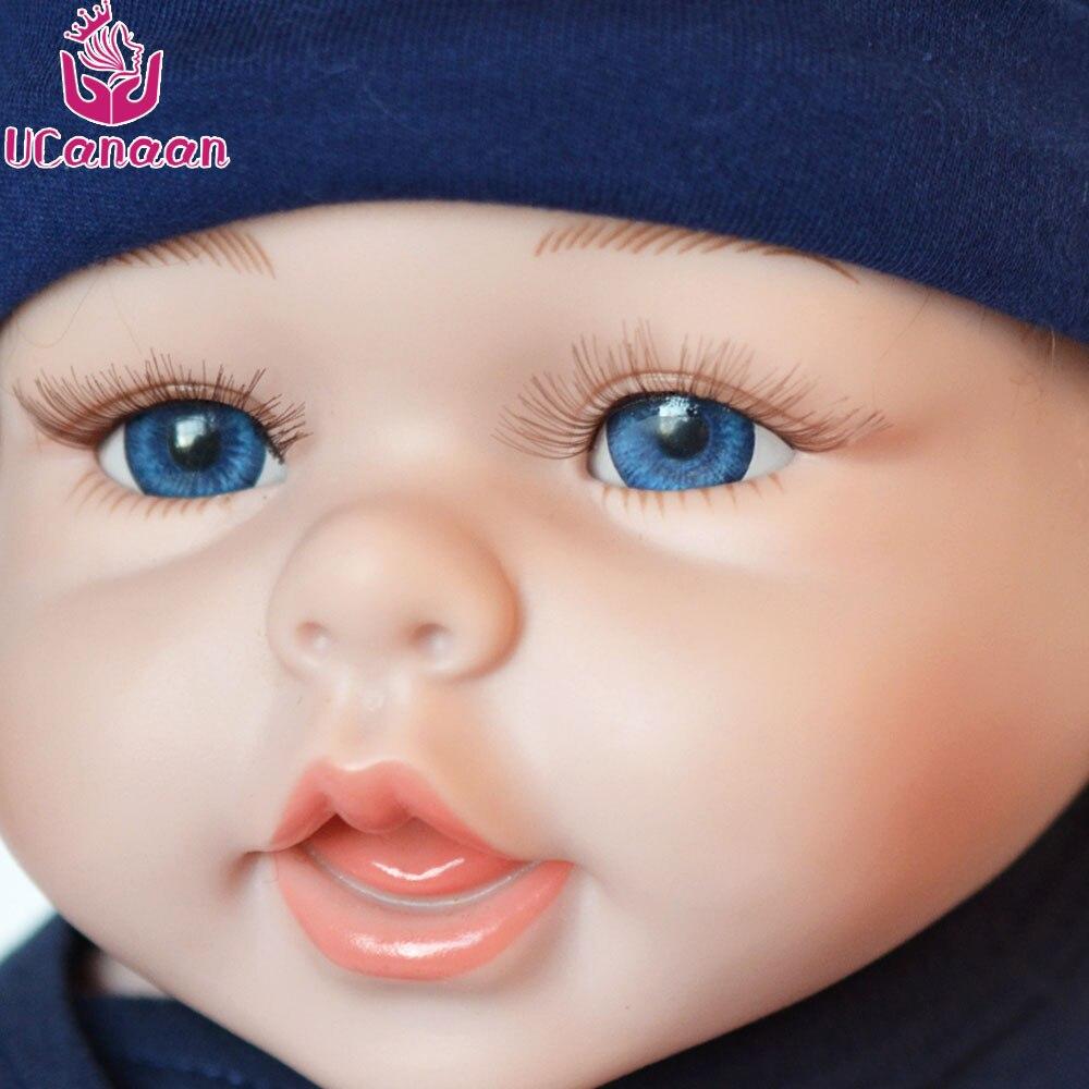 Ucanan 20 ''/50 CM muñeca de silicona suave Reborn muñecas Baby Boy para niños juguetes realistas para niñas metoo juguete-in Muñecas from Juguetes y pasatiempos    3