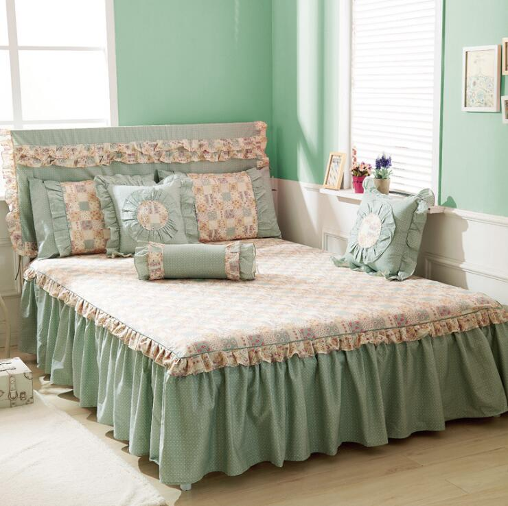 Soft Cotton Bed Skirt Cover Sheet Bedspread Bedding Home Textile Hotel High Quality Bed Skirt