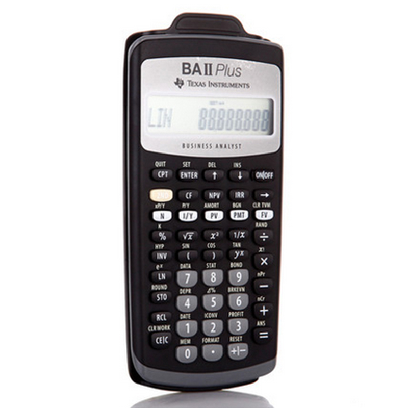 2018 Hot Sale Ti BA II Plus 12 dígitos Plastic Led Calculatrice Calculadora Cálculos financieros Estudiantes Calculadora financiera