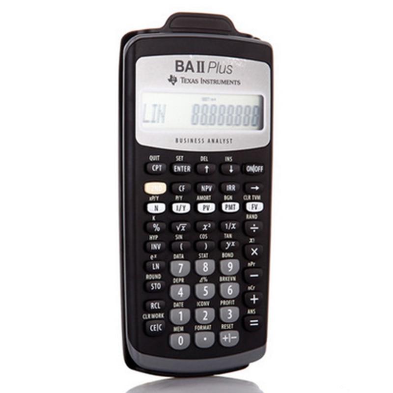 2018 offre spéciale Ti BA II Plus 12 chiffres en plastique Led Calculatrice Calculadora calculs financiers étudiants Calculatrice financière