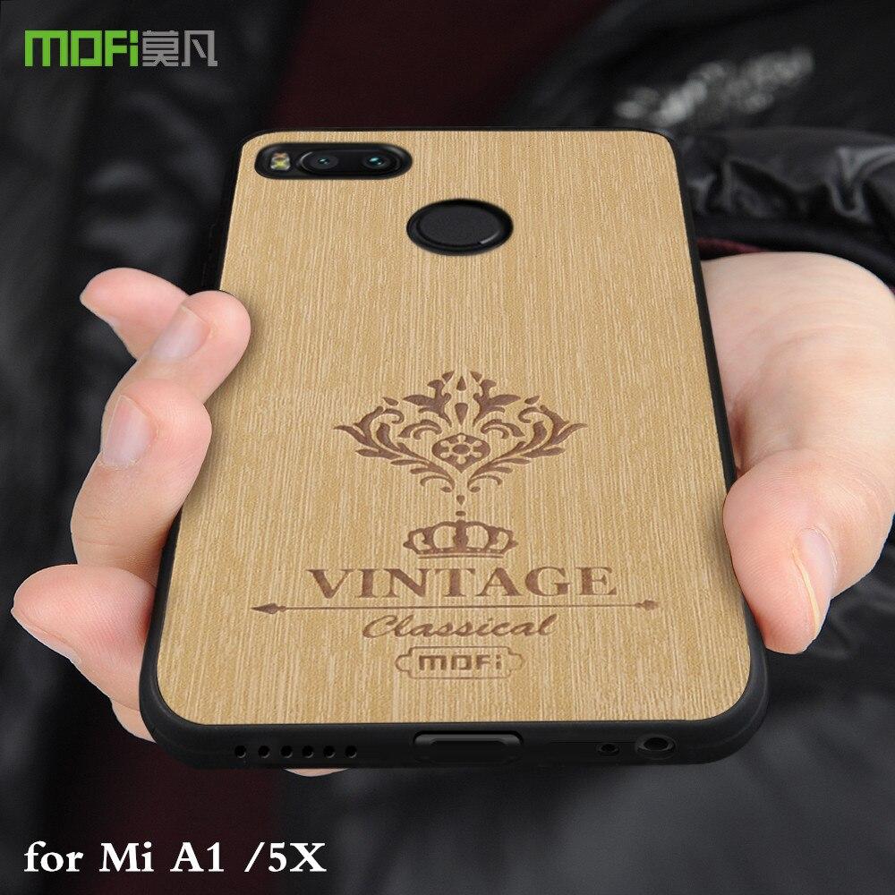 MOFi D'origine Couverture Arrière pour Xiaomi Mi A1 Cas Silicone TPU Xiomi Antichoc Conque Cas pour Xiaomi Mi 5X Plein Protéger Logement