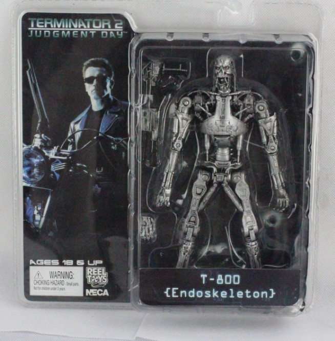 5pcs/lot 18cm terminator 2 judgment day t-800 skull endoskeleton pvc action terminator...