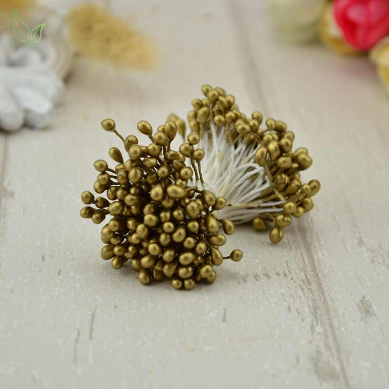 300 Pcs Mini Pearl Benang Sari Gula Buatan Buatan Buatan Buatan Buatan Bunga untuk Dekorasi Pernikahan DIY Menjahit Scrapbooking Bunga Palsu Bunga