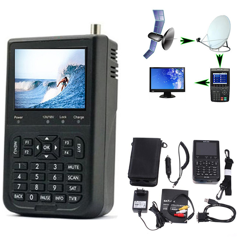Professional Signal Finder Satlink WS-6906 3.5 DVB-S FTA digital satellite meter satellite finder ws6906 satlink ws6906 for TV satlink ws 6906 3 5 lcd dvb s fta data digital satellite signal finder meter