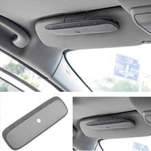 Universal bluetooth manos libres para el automóvil visera kit de coche manos libres inalámbrico receptor de música + caja al por menor del cargador del coche para iphone #