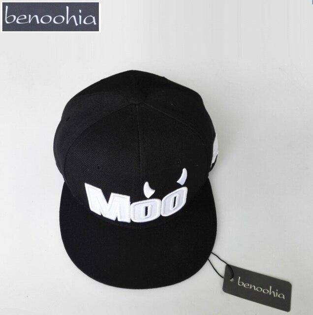 48cb1b657dbba BBS048 nuevo Moo carta bordado gorra de béisbol hip hop deporte del  sombrero del snapback gorra