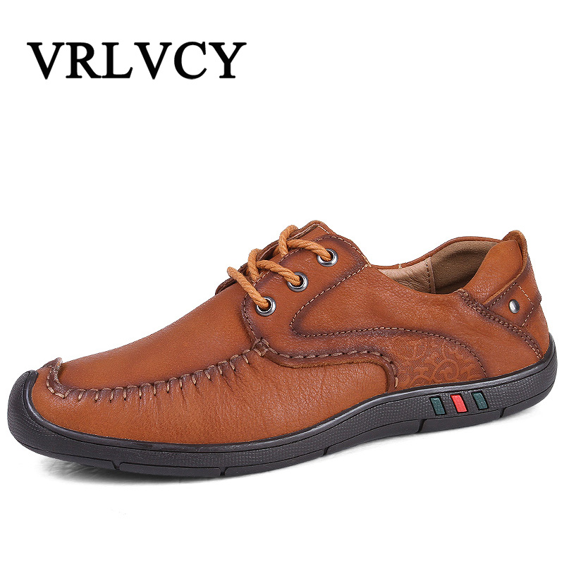 Brand New Men Shoes England Trend Casual Leisure Shoes Leather Shoes Breathable For Male Footear Loafers Men's Flats top brand high quality genuine leather casual men shoes cow suede comfortable loafers soft breathable shoes men flats warm