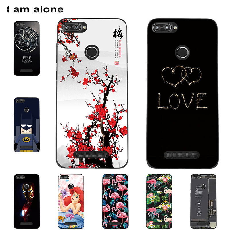 I Am Alone Phone Cases For Lenovo K320T 5.7 Inch Mobile Soft TPU Fashion Bags Cute Color Floral Cellphone Shell Free Shipping