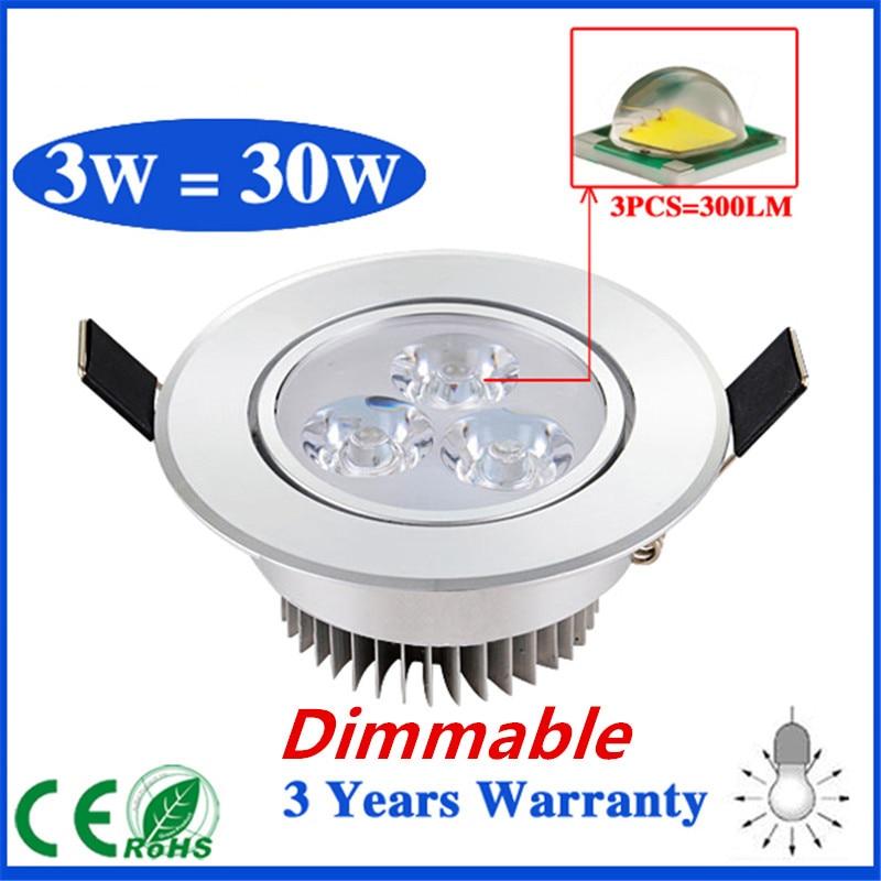 Затемнения 3 Вт 5 Вт 7 Вт светодиодный потолочный светильник CREE LED потолочный светильник Встраиваемый прожектор для дома Бесплатная доставка
