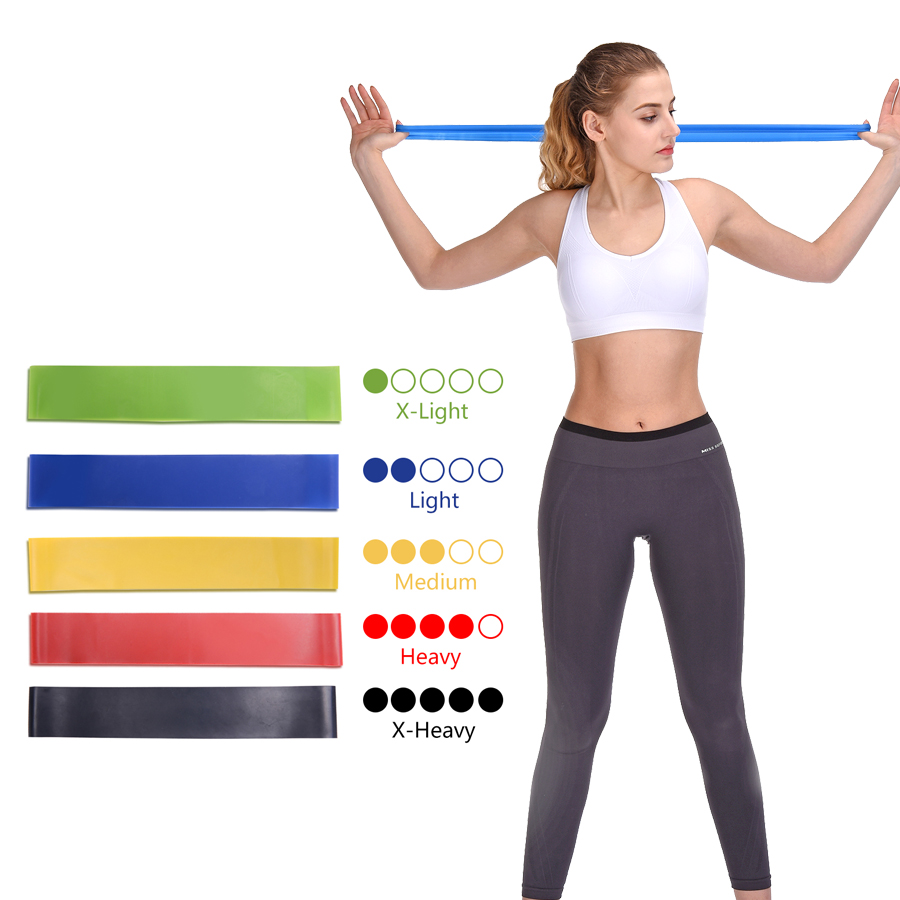 flylitte Resistance Bands Gum Sport Elastic Band Gym Exercise Latex Fitness Equipment