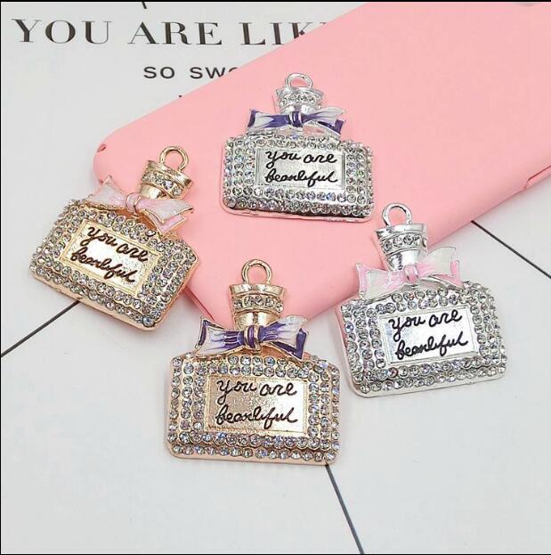 Min.$15 (Mixed Order) Alloy Rhinestone Perfume Cell Phone DIY Alloy Dec Decoration AC023 shoulder bag