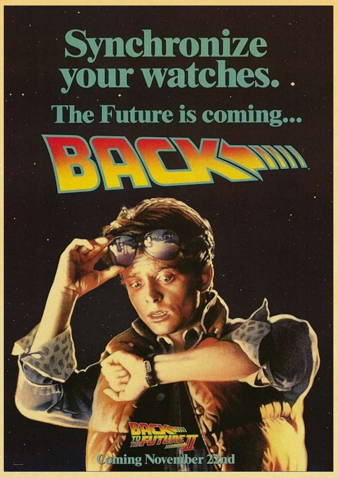 HTB1WZnJlaSWBuNjSsrbq6y0mVXah Sci-fi Back to The Future Film Propaganda Retro Kraft Poster Decorative DIY Wall Canvas Sticker Home Bar Art Posters Decor