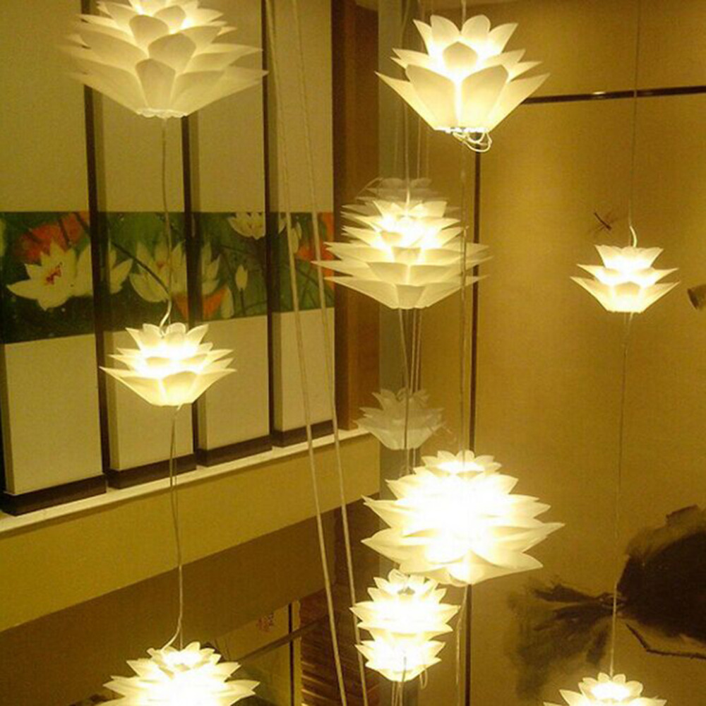Diy Chandelier Aliexpresscom Buy Excelvan Diy Lotus Chandelier Pp Pendant Lamp