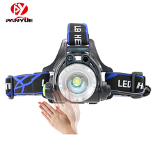 PANYUE Camping Waterproof Running Head Lamp Light Sensor Headlamp XML T6 18650 USB Rechargeable High Power Headlamp Headlight panyue camping waterproof running head lamp light sensor headlamp xml t6 18650 usb rechargeable high power headlamp headlight