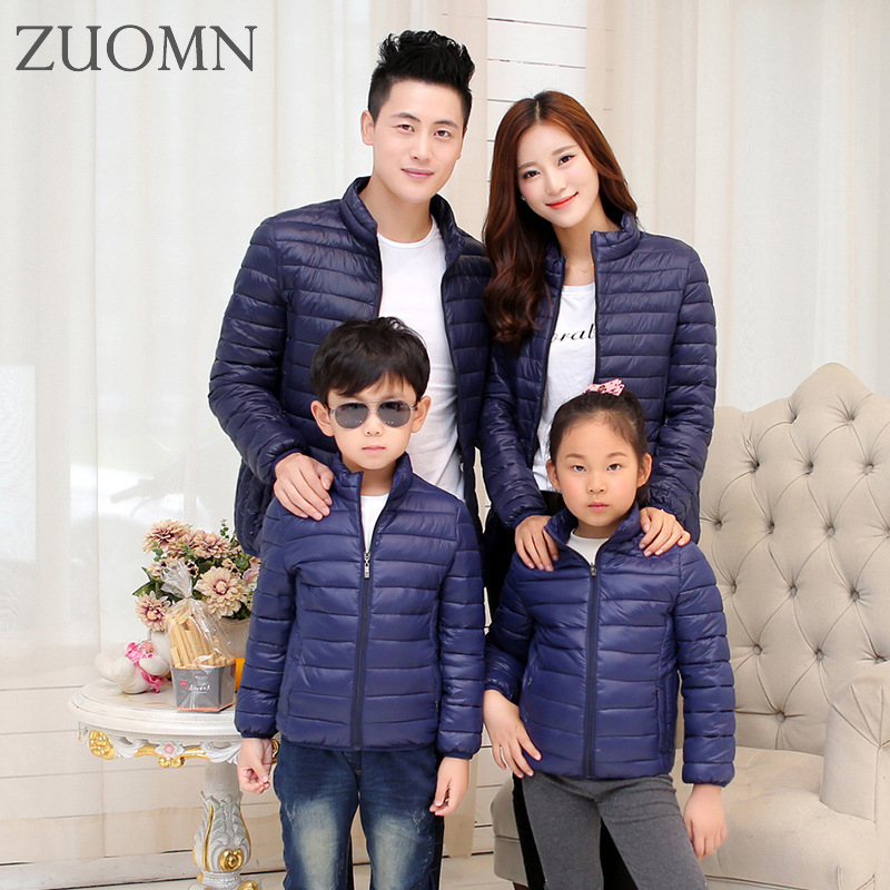 ZUOMN Store Winter Matching Family Clothing Boys Down Jacket outerwear family clothing look Family mom dad boys girls jackets clothes YL366