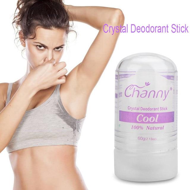 Channy de las mujeres alumbre Stick desodorante antitranspirante palo alumbre desodorante de cristal desodorante las axilas de eliminación