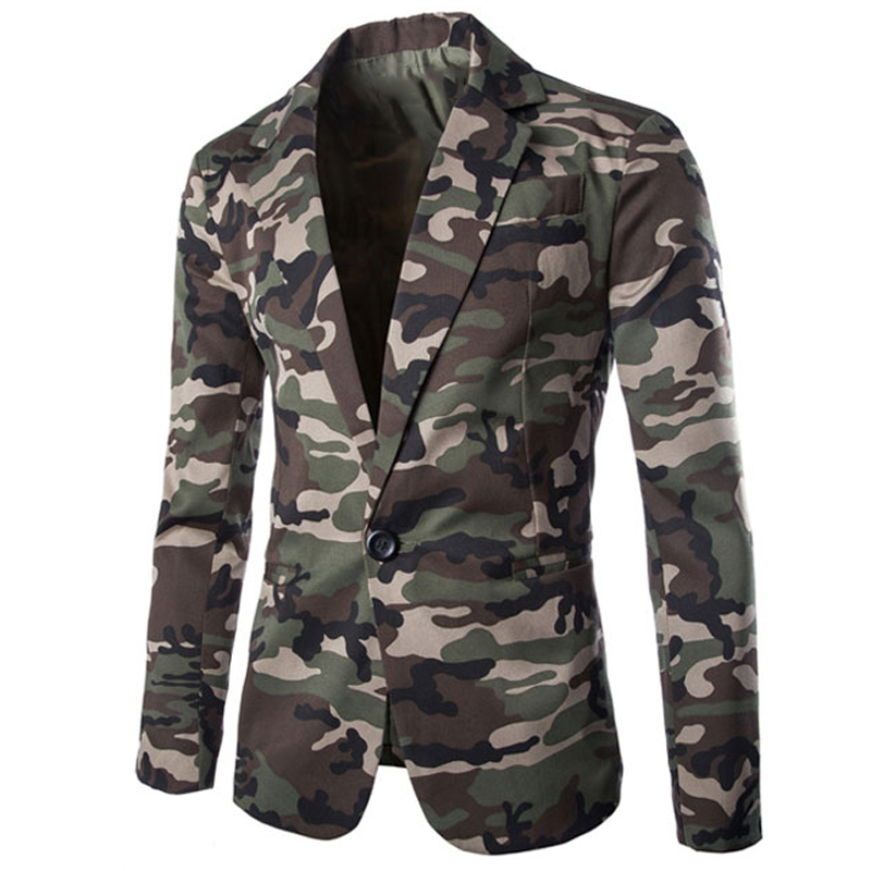 European Style Army Designer Casual Mens Suit Blazer Coats Camouflage Suit Dress Jackets And Coat Slim Fit Streetwear B598