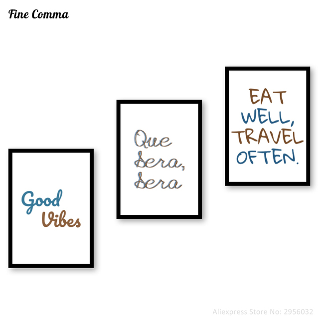 Poster Print Que Sera Sera Whatever Will Be Quote Wall Art Giclee