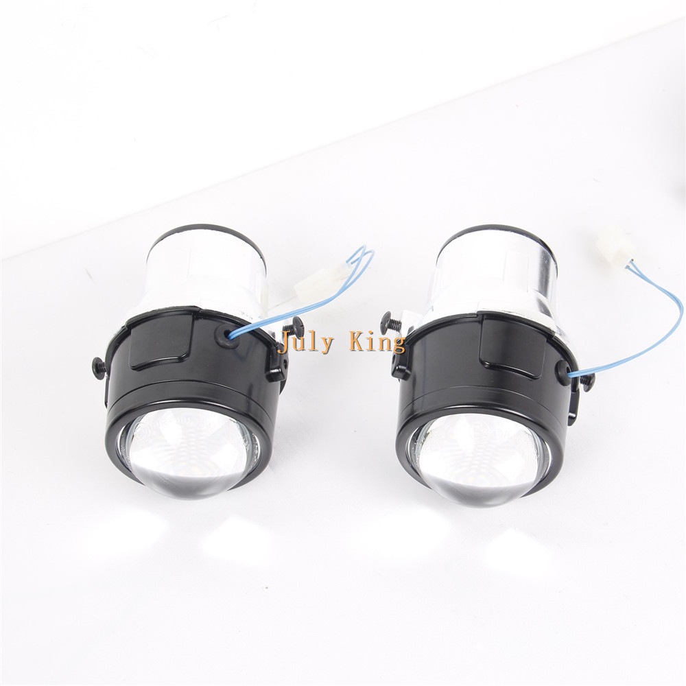 July King Car Front Bumper Bifocal Lens Fog Lamp Assembly Case for Chevrolet Trax Tracker Cruze Orlando and Opel Antara 2006+ for opel astra h gtc 2005 15 h11 wiring harness sockets wire connector switch 2 fog lights drl front bumper 5d lens led lamp