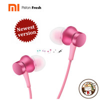 Newest 100 Original Xiaomi Mi Earphones Piston 3 Fresh Version In Ear With Mic Wire Control