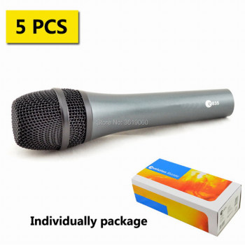 Free shipping, 5pcs whole sale 835 wired dynamic cardioid  vocal microphone , e 835 wired sennheisertype vocal microphone