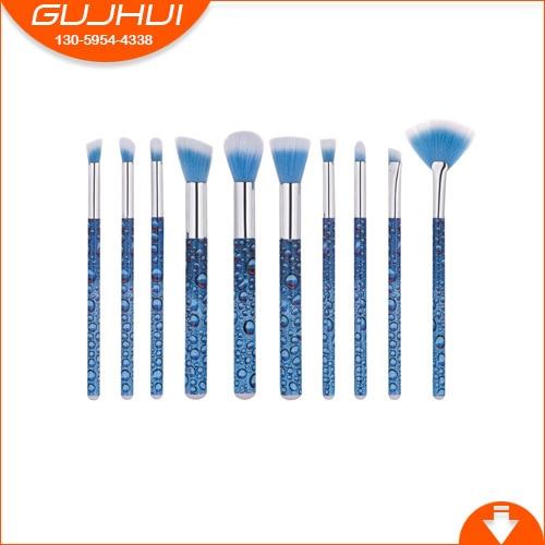 10 Make-up Brush Suit, Beautiful Makeup Tool, Water Bead Foundation and Eye Brush Fan Brush GUJH тушь make up factory make up factory ma120lwhdr04